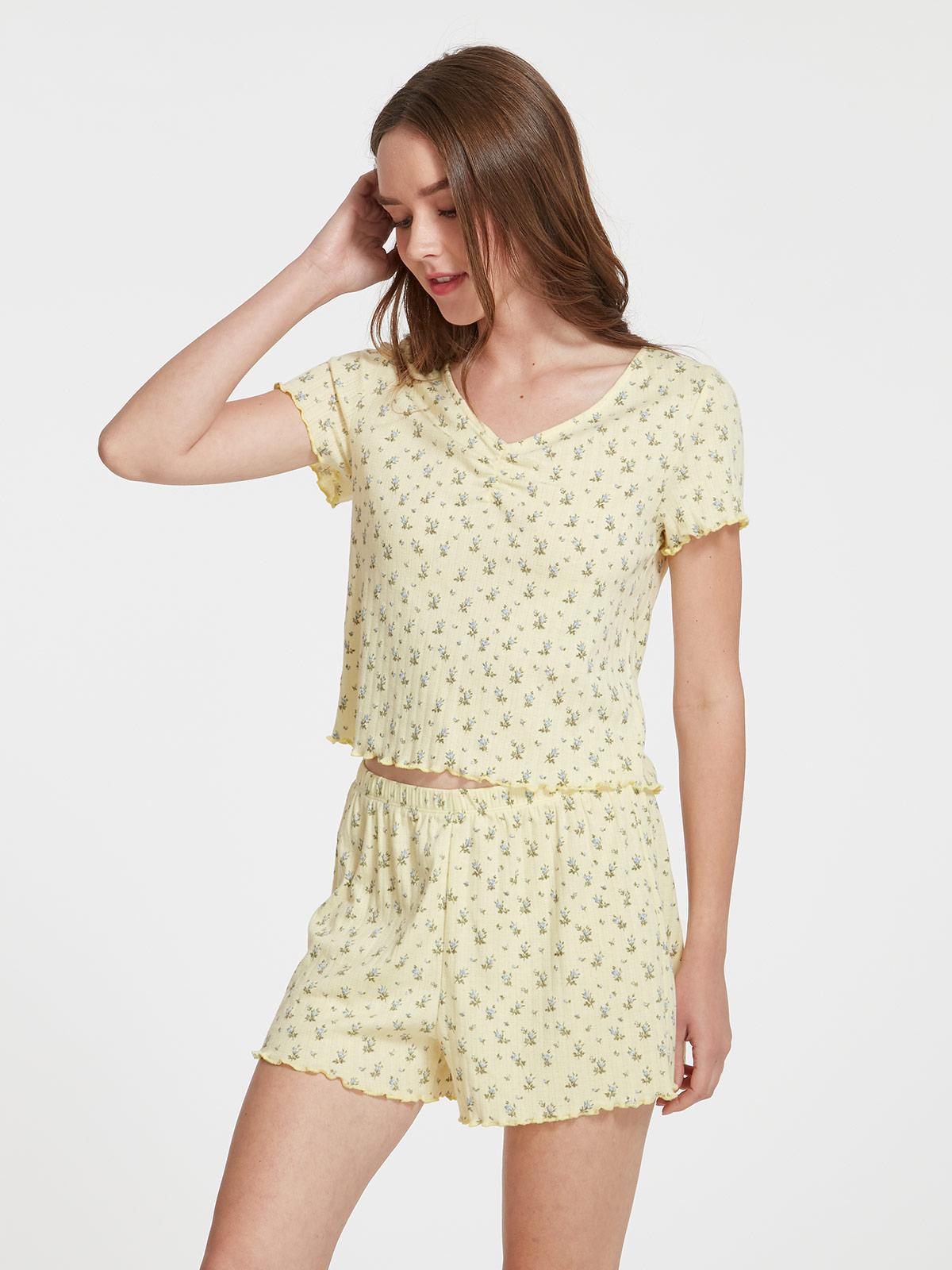 PATTY, 提花家居上衣 HW08674  原價:HK$ 99.0 | 現售:HK$ 79.90